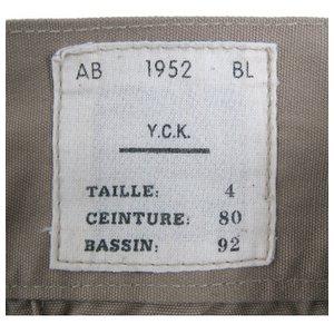 ベルギー軍 1952 Sニッカボッカ復刻番 カーキ 【 サイズ4 】 80cm