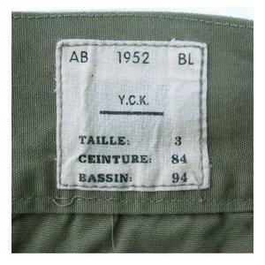 ベルギー軍 タイプ1952 S七分丈パンツ 復刻番 オリーブ 【 サイズ4 】