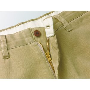【メンズ/パンツ/ビジカジ】カーキトラウザーズ 28(72cm)