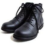 アメリカ軍 WW2 インファクトリーブーツ/靴 【 6W/25cm 】 セミロング 合成皮革(合皮) ブラック 【 レプリカ 】