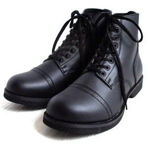 アメリカ軍 WW2 インファクトリーブーツ/靴 【 8W/27cm 】 セミロング 合成皮革(合皮) ブラック 【 レプリカ 】