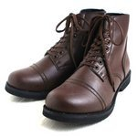 アメリカ軍 WW2 インファクトリーブーツ/靴 【 6W/25cm 】 セミロング 合成皮革(合皮) ブラウン 【 レプリカ 】