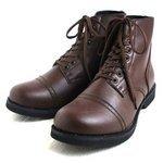 アメリカ軍 WW2 インファクトリーブーツ/靴 【 10W/29cm 】 セミロング 合成皮革(合皮) ブラウン 【 レプリカ 】