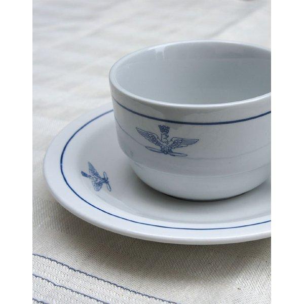 イタリア軍放出  A. M.I.コーヒーカップ&ソーサデットストック  未使用   デットストック