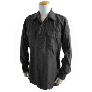 ドイツ軍放出 BW フィールドシャツ・後染め JS001ND ブラック GR.3(L)【デットストック】 - 拡大画像