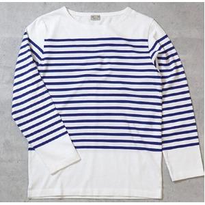 フランスタイプ ボーダーシャツ JU048YN ホワイト×ブルー L 【 レプリカ 】 【 新品 】
