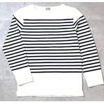 フランスタイプ ボーダーシャツ JU048YN ホワイト×ネイビー L 【 レプリカ 】 【 新品 】