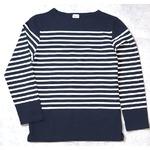 フランスタイプ ボーダーシャツ JU048YN ネイビー×ホワイト L 【 レプリカ 】 【 新品 】