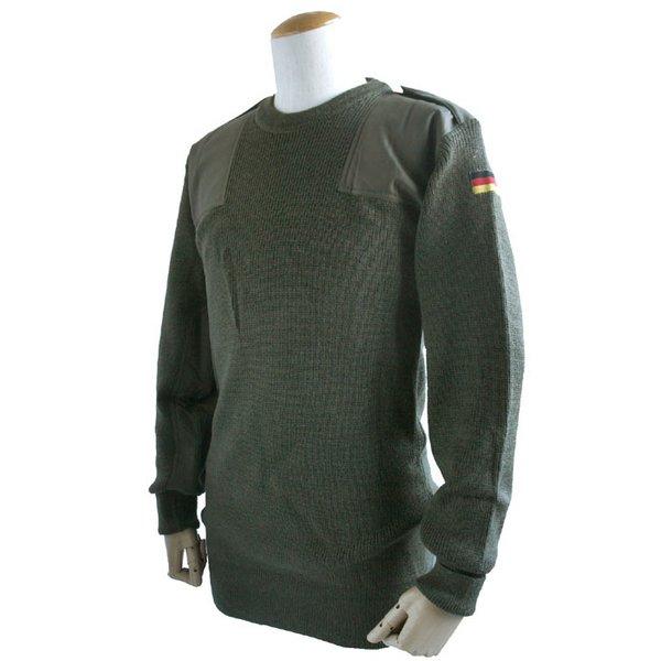 ドイツ軍放出 BWウールコマンドセーター JW016NN オリーブ 48( L)  デットストック   未使用