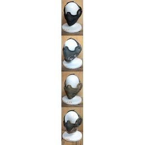 スチールフェイスマスク Bスタイル EE334NN ブラック - 拡大画像