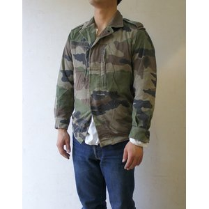 フランス軍放出 F2ジャケット JJ004UNW L CCE カモフラージュ( 迷彩) 80( XS相当) 【中古】
