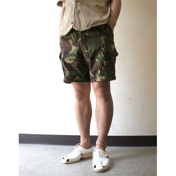 イギリス軍 放出 DP M カモパンツ ( 迷彩ズボン) ショート ライトウェイト P S011UR 88cm 中古