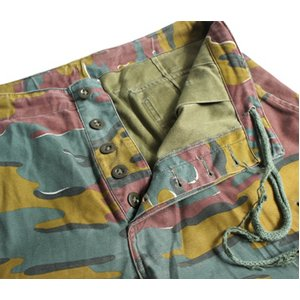 ベルギー軍放出 M90 カモフラージュパンツ ( 迷彩ズボン) ショート P S087UN Mサイズ 【中古】
