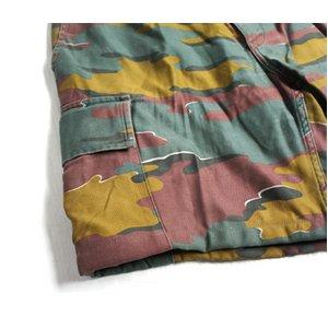 ベルギー軍放出 M90 カモフラージュパンツ ( 迷彩ズボン) ショート P S087UN Lサイズ 【中古】