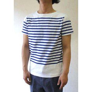 フランスタイプ ボーダーシャツ 半袖 3色 JT043YN ホワイト×ブルー S 【 レプリカ 】
