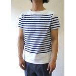 フランスタイプ ボーダーシャツ 半袖 3色 JT043YN ホワイト×ブルー L 【 レプリカ 】