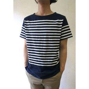 フランスタイプ ボーダーシャツ 半袖 3色 JT043YN ネイビー×ホワイト S 【 レプリカ 】