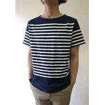 フランスタイプ ボーダーシャツ 半袖 3色 JT043YN ネイビー×ホワイト L 【 レプリカ 】