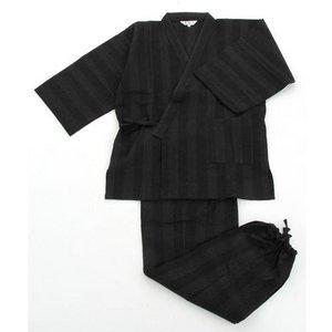 纏(まとい)織作務衣141-1905黒LLサイズ