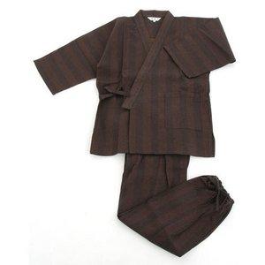 纏(まとい)織作務衣141-1905濃茶モカMサイズ