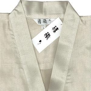 纏(まとい)織作務衣 141-1905 ベージュ Lサイズ h02