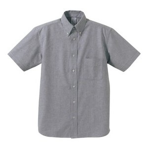 クールビズ対応オックスフォードボタンダウン半袖シャツ CB1068 O X グレー Mサイズ