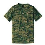 J.S.D.F.(自衛隊)採用吸汗速乾半袖カモフラージュTシャツ CB6589 ピクセルウッドランド  XL