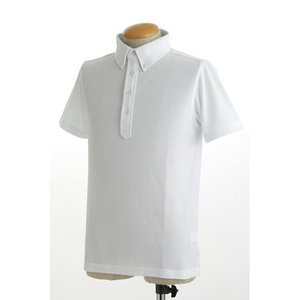 クールビズ 4ボタン吸汗速乾ポロシャツ 【 2枚セット 】 J2090 白×ブラック Sサイズ h01