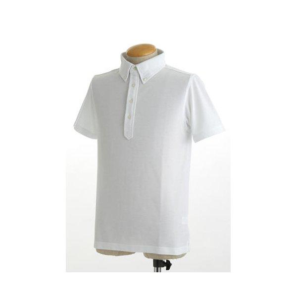 クールビズ 4ボタン吸汗速乾ポロシャツ 【 2枚セット 】 J2090 白×ブラック Sサイズf00
