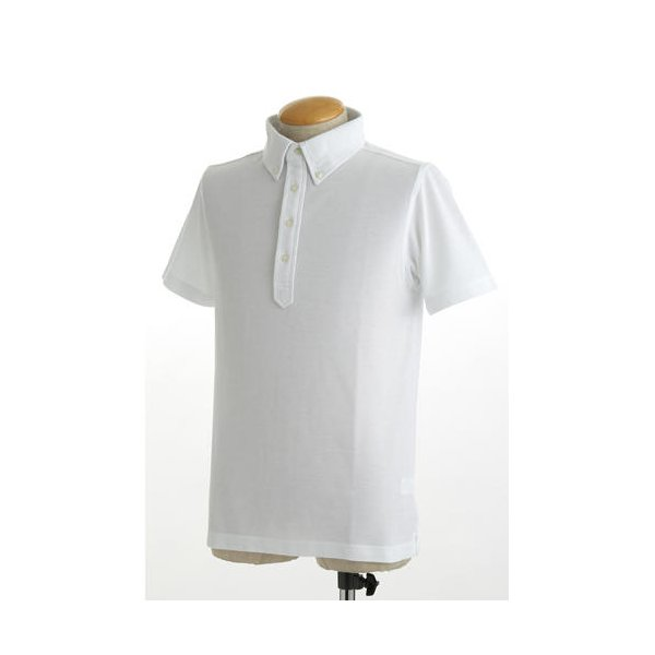 クールビズ 4ボタン吸汗速乾ポロシャツ 【 2枚セット 】 J2090 白×ネイビー Mサイズf00