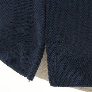 クールビズ 4ボタン吸汗速乾ポロシャツ 【 2枚セット 】 J2090 白×ネイビー Mサイズ f05