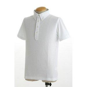 クールビズ 4ボタン吸汗速乾ポロシャツ 【 2枚セット 】 J2090 白×ネイビー Lサイズ