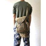 イタリア軍放出 ガスマスクショルダーバッグ B S115UN カーキ【中古】