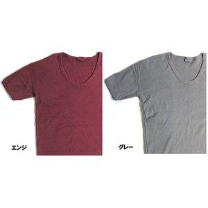 東ドイツタイプ Uネック Tシャツ JT039YD エンジ サイズ4 【 レプリカ 】