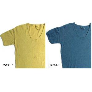 東ドイツタイプ Uネック Tシャツ JT039YD M ブルー サイズ5 【 レプリカ 】