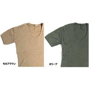 東ドイツタイプ Uネック Tシャツ JT039YD オリーブ サイズ4 【 レプリカ 】