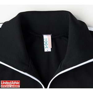 ライン入りジャージ ラグランスリーブジャケット CB1995 ブラック/ホワイト/レッド L f06
