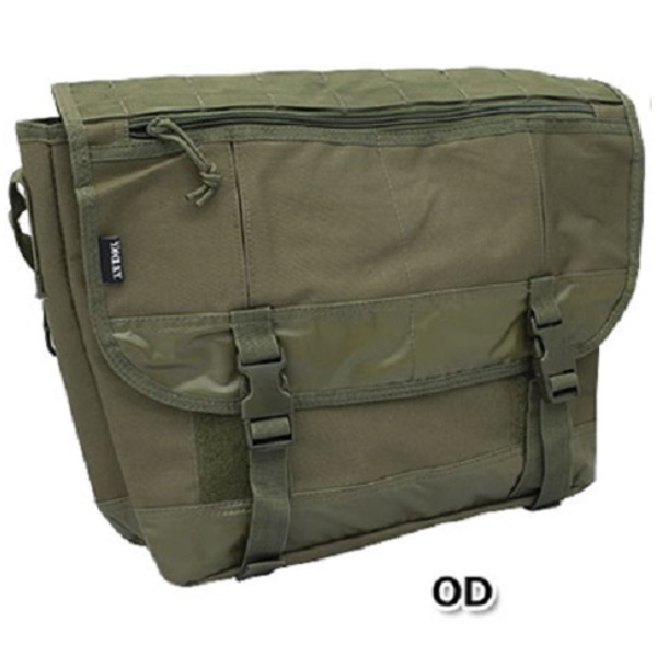 米軍防水布使用ポリエステルキャンパスメッセンジャーバック BS124YN オリーブ 【レプリカ】