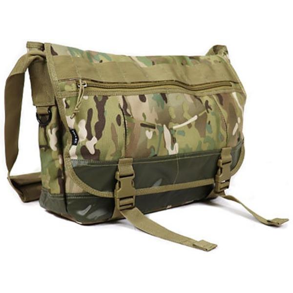 アメリカ軍 メッセンジャーバッグ/鞄  20 L  ポリエステルキャンバス地/ラバー 防水加工 B S124YN マルチ カモ( 迷彩)  レプリカ