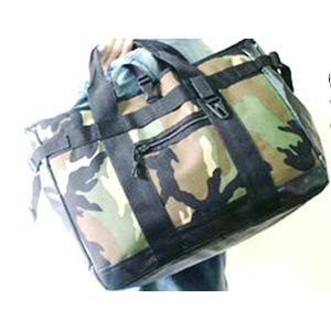 アメリカ軍 トートバッグ/鞄 【 25L 】 ポリエステルキャンバス地/ラバー 防水加工 BH062YN ブラック 【 レプリカ 】  - 拡大画像