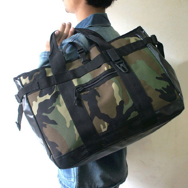 アメリカ軍 トートバッグ/鞄  25L  ポリエステルキャンバス地/ラバー 防水加工 BH062YN ブラック  レプリカ