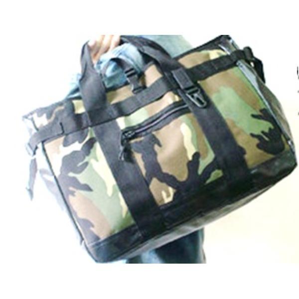 アメリカ軍 トートバッグ/鞄  25L  ポリエステルキャンバス地/ラバー 防水加工 BH062YN ウッドランド  レプリカ