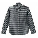 クールマックスボタンダウン長袖チェックシャツ CB1276  ブラックチェック  L
