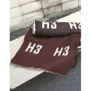 ハンガリ軍放出 ウールブランケット ブラウン EE344NN ブラウン 【中古】