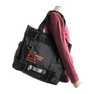 フライングボディパラシュートミリタリートートバッグ BH066YN ブラック - 拡大画像