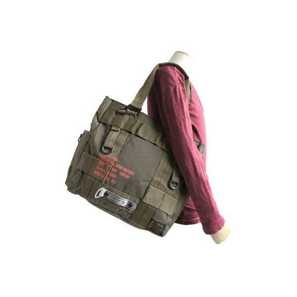 フライングボディパラシュートミリタリートートバッグ BH066YN オリーブf00