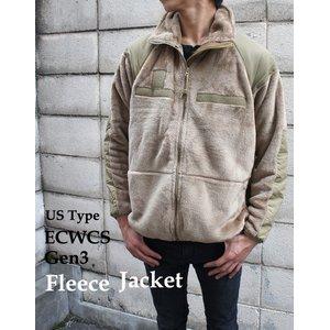 アメリカ軍 ECWC S Gen3 両面フリースジャケット 【 Mサイズ 】 サイドリブ仕様 JJ150YN ブラック 【 レプリカ 】