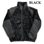 アメリカ軍 ECWC S Gen3 両面フリースジャケット 【 XLサイズ 】 サイドリブ仕様 JJ150YN ブラック 【 レプリカ 】