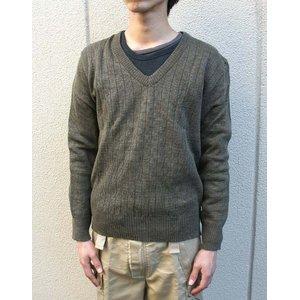 チェコ軍放出 Vネックセーター JW025NN Lサイズ 【 デッドストック 】 【 未使用 】