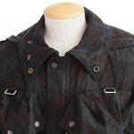 スイス軍放出 アルペンカモ フラージュマンテンジャケット ブラック染め JJ021UN 48(M相当)【中古】